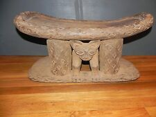 "Arts of Africa - Bamileke Stool - Cameroon - 14"" Height x 27"" Long x13"" Wide."