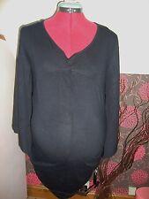 BNWT Ladies MATERNITY Black Pretty Loose Sleeve  Top Size 14