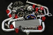 GSR B18C1 DC2 T3/T4 SSQV BOLT-ON COMPLETE TURBO KIT KEEP AC PS RED SET