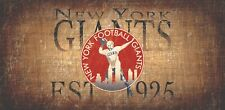 """New York Giants Retro Throwback Established 1925 Wood Sign - Wall NEW 12"""" x 6"""""""
