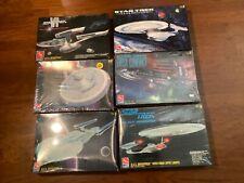 Lot of 6 star trek enterprise model kits 1701 A,B,C,E, Ngen, Excelsior spaceship