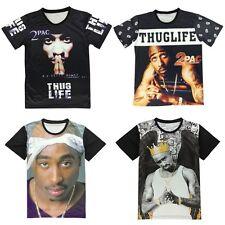 Tupac Thug Life Legend Westside Notorious B.I.G. Biggie Brooklyn T-shirt 3D Top
