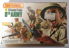 "MATCHBOX 15 TOY SOLDIERS 1:32 ""8th ARMY"" NEVER PLAYED WITH - MINT CONDITION"