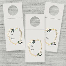 6 Wine Bottle Gift Tags, Christmas Gift Tags, Gold Tags