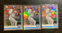 J.P. Crawford 2019 Topps Chrome #15 Refractor Lot(3) Seattle Mariners