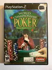 WORLD CHAMPIONSHIP POKER - PS2 - MISSING MANUAL - FREE S/H - (T7)