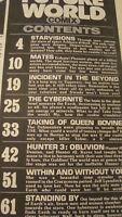 Vintage COMIC/MAGAZINE -- FUTURE WORLD Comix sept 1978