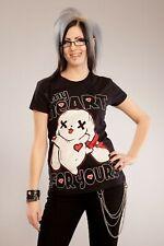 Poizen Industries lb mi corazón T-Shirt Señoras Camisa Informal Estilo Punk Gótico Emo