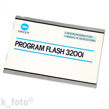 Minolta Program Flash 3200i manuale d'uso * manual de instrucciones