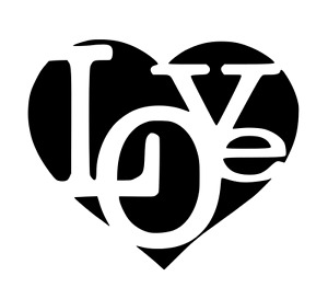 LOVE HEART STENCIL REUSABLE ON A4 180 micron