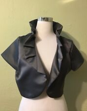 Made by tailor womens formal sequin cardigan top size XL gray