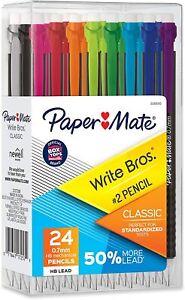 Paper Mate Mechanical Pencils, Write Bros. Classic #2 Pencil, 0.7mm, 24 Count