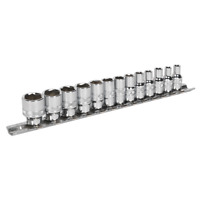 """Sealey AK2746 Rounded / Damaged Nut Remover Set 13pc 1/4"""" Drive Lock On Sockets"""