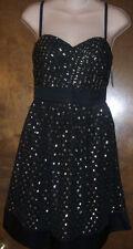 PHOEBE COUTURE BLACK COCKTAIL DRESS~SZ 6~NWTGS $300
