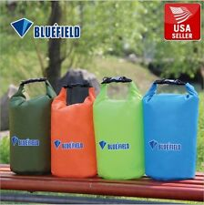 Dark Green Bluefield Waterproof Floating Dry Bag Kayak Camping Canoe 10L w Strap