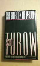 The Burden of Proof by Scott Turow 1990 Hardcover Good Condition