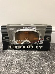 Oakley O Frame 2.0 Pro Snow Goggles Youth Matte White/Grey Ski Snow Boarding XS