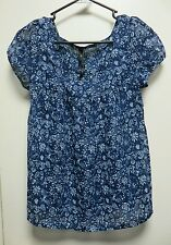 Jessica Simpson Multi-Color Sheer Floral Design Tunic Top, sz XS