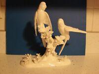 JT JONES CROWN STAFFORDSHIRE FIGURINE BIRD FIGURINE  PAIR PARAKEETS