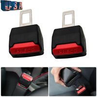 2x Auto Safety Seat Belt Buckle Extension Extender Clip Alarm Stopper Universal