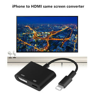 2in1 8Pin HDMI AV Adapter Charge Cable For iPhone X 6 7 8 Plus iPad