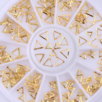 Rose Gold 3D Nail Art Rhinestones Studs Circle Star Round Mixed Decorations Tips