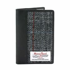 Harris Tweed Leather Passport Holder (grey check) NEW  25140