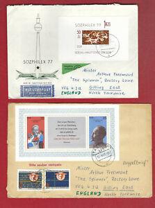 DDR 1977- 3 Auslandsbriefe gestempelt - F 53 -