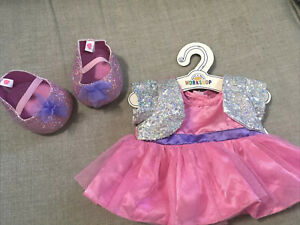 BUILD A BEAR Outfit Bundle Of A Dress & Shoes - Glitter/ Sparkly