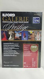 NEW Ilford galerie prestige 25 + 10 Sheets 310gsm A4 Professional Ink Photo Pape