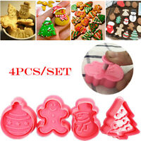 New Fondant Cookie Cutter Christmas Biscuit Mold Snowman/ Xmas Tree Baking Mould