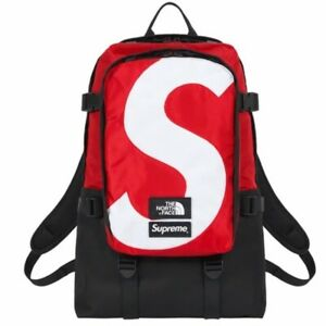 Supreme The North Face S Logo Expedition Backpack Black Red 100% Authentic