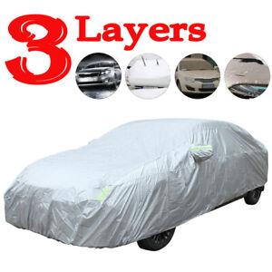 Full Car Cover Waterproof Sun UV Snow Dust Rain Resistant Sedan Protection 3L US