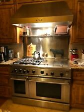 """Dcs 48"""" Stainless Steel 4 Burner Gas Range with Griddle and Grill."""