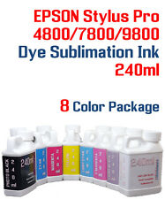 Dye Sublimation Ink - 8 Multi-Color 240ml - Epson Stylus Pro 4800, 7800, 9800