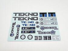 New Tekno Rc Sct410.3 Decal Sticker Sheet Tkr5548 Ns12