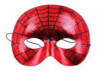 Kids Men Women Spiderman Inspired web Super Hero Party Costume Red Eye Face Mask