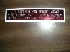 GUY LAFLEUR NAMEPLATE FOR AUTOGRAPHED PUCK/JERSEY CASE/PHOTO