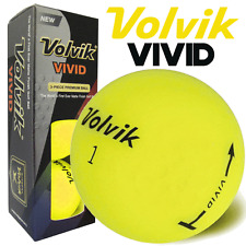 """NEW 2017"" VOLVIK VIVID MATTE FINISH 3 PIECE GOLF BALLS / YELLOW / 3 BALL PACK"
