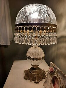 Crystal French Boudoir Lamp