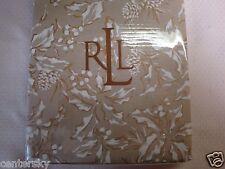 """New LAUREN Ralph Lauren Tablecloth Bowen Natural Gold Holly 60"""" x 84"""" Oblong"""