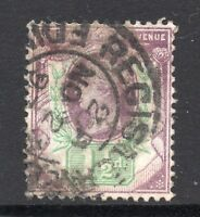 GB = QV 1887 1-1/2d Jubilee stamp, SG198. Used. (02.18.22)