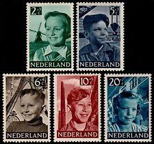 ✔️ NETHERLANDS 1951 - CHILD WELLFARE KINDERZEGELS - NVPH 573/577 ** MNH OG