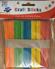 Children's Art and Craft Colour & Natural Craft / Lolly Sticks pack of 100 NEW