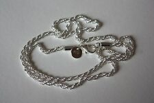 18 inch Rope Chain / Necklace. 925 Silver / Silver Plated ?