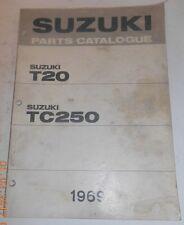 1969 69 SUZUKI T20 250 TC250 PARTS CATALOG SHOP SERVICE REPAIR MANUAL Catalogue