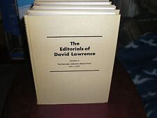 THE EDITORIALS OF DAVID LAWRENCE  1970  FULL SET  COMPLETE  * NEW *