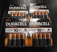32 AA Duracell Coppertop Batteries Model: MN1500B8Z (Four Packages of Eight)