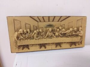 VINTAGE..WALL PLAQUE..RELIGIOUS..ITALIAN..CHRISTIANITY..LAST SUPPER.WALL HANGING