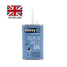 ABBEY GUN & RIFLE CARE LIGHT MINERAL OIL LONG SPOUT TIN AIRSOFT SHOOTING 125ml